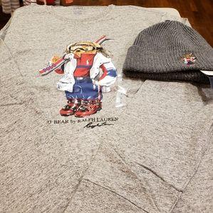 New Season - Ralph Lauren Ski Bear Long Sleeve T.